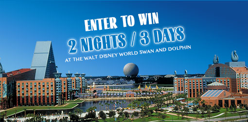 Win a 2 Night / 3 Day stay at the Walt Disney World Swan and Dolphin!